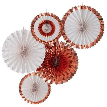 Rose Gold Pinwheel Fan Decorations